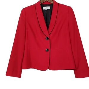 LE SUIT Career Red & Black Blazer 14P